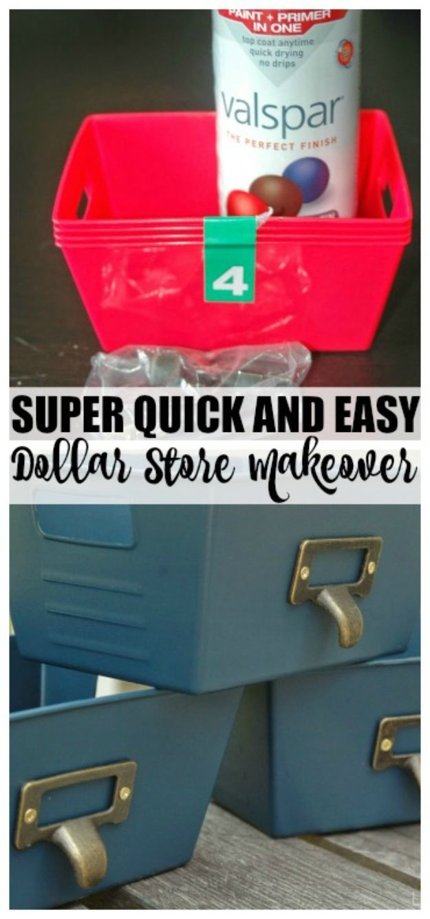 Dollar Store Organizing Ideas - Dollar Store Storage Container Makeover - Easy Organization Projects from Dollar Tree and Dollar Stores - Quick Closet Makeovers, Pantry Storage, Shoe Box Projects, Tension Rods, Car and Household Cleaning - Hacks and Tips for Organizing on a Budget - Cheap Idea for Reducing Clutter around the House, in the Kitchen and Bedroom http://diyjoy.com/dollar-store-organizing-ideas