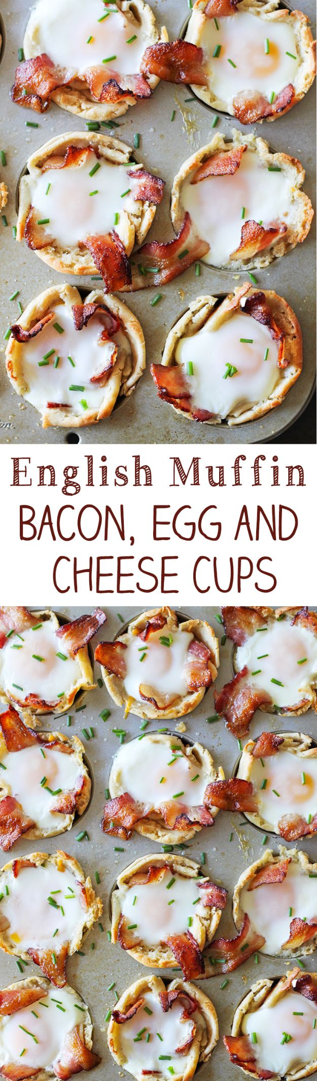 Best Recipes for the Cheese Lover - English Muffin Bacon Egg and Cheese Cups - Easy Recipe Ideas With Cheese - Homemade Appetizers, Dips, Dinners, Snacks, Pasta Dishes, Healthy Lunches and Soups Made With Your Favorite Cheeses - Ricotta, Cheddar, Swiss, Parmesan, Goat Chevre, Mozzarella and Feta Ideas - Grilled, Healthy, Vegan and Vegetarian #cheeserecipes #recipes #recipeideas #cheese #cheeserecipe