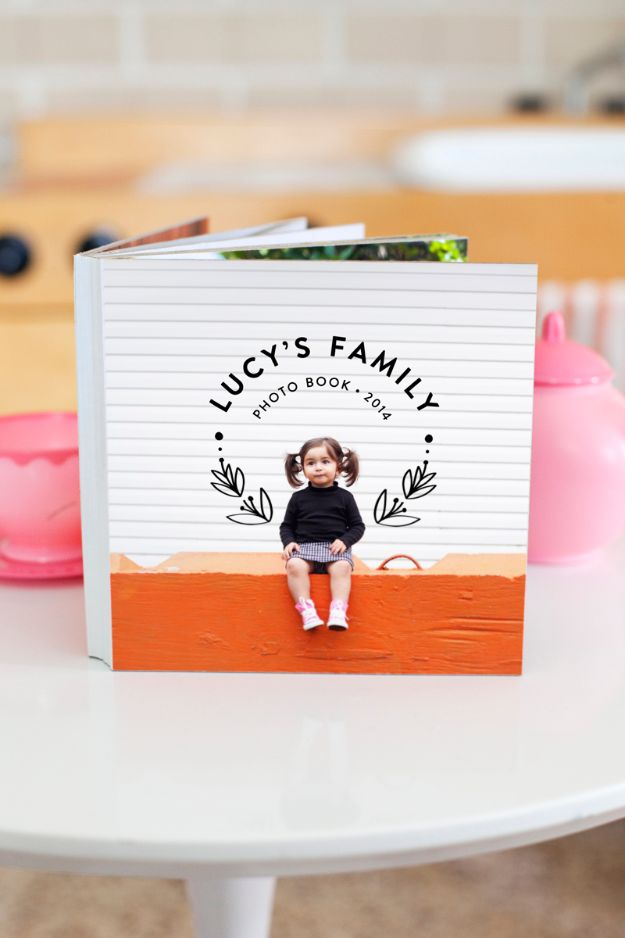 DIY Photo Albums - Family Photo Board Book - Easy DIY Christmas Gifts for Grandparents, Friends, Him or Her, Mom and Dad - Creative Ideas for Making Wall Art and Home Decor With Photos