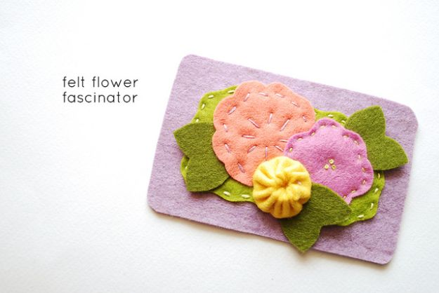 DIY Ideas With Faux Flowers - Felt Flower Fascinator - Paper, Fabric, Silk and Plastic Flower Crafts - Easy Arrangements, Wedding Decorations, Wall, Decorations, Letters, Cheap Home Decor