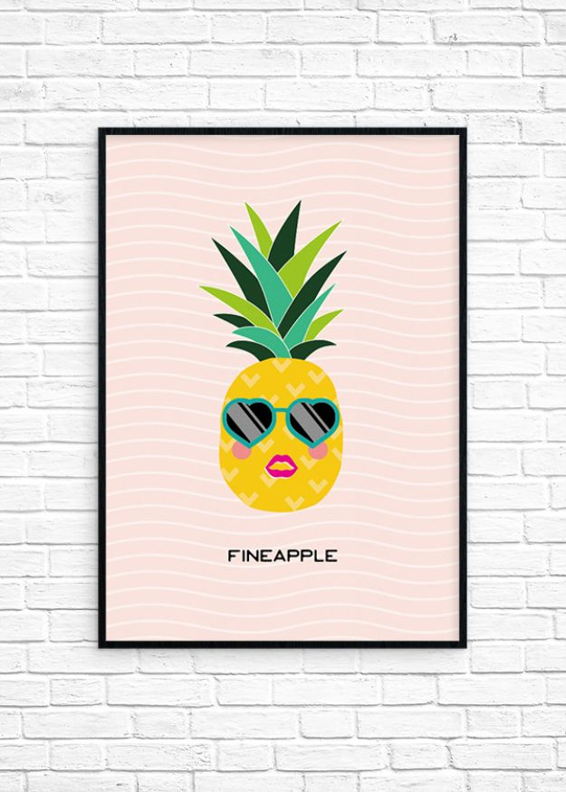 Free Printables For Your Walls - Fineapple Printable Wall Art - Easy Canvas Ideas With Free Downloadable Artwork and Quote Sayings - Best Free Prints for Wall Art and Picture to Print for Home and Bedroom Decor - Signs for the Home, Organization, Office - Quotes for Bedroom and Kitchens, Vintage Bathroom Pictures - Downloadable Printable for Kids - DIY and Crafts by DIY JOY #wallart #freeprintables #diyideas #diyart #walldecor #diyhomedecor http://diyjoy.com/best-free-printables-wall-art