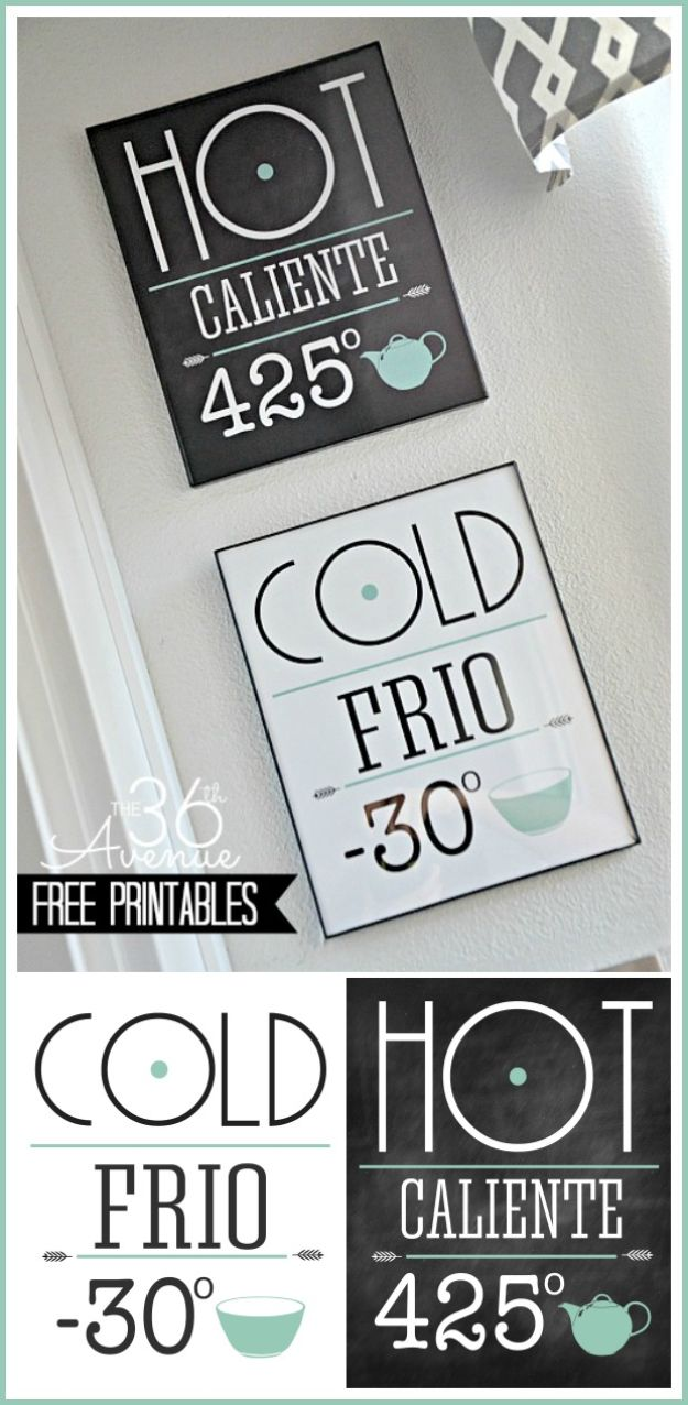 Free Printables For Your Walls - Free Printable Kitchen Set - Easy Canvas Ideas With Free Downloadable Artwork and Quote Sayings - Best Free Prints for Wall Art and Picture to Print for Home and Bedroom Decor - Signs for the Home, Organization, Office - Quotes for Bedroom and Kitchens, Vintage Bathroom Pictures - Downloadable Printable for Kids - DIY and Crafts by DIY JOY #wallart #freeprintables #diyideas #diyart #walldecor #diyhomedecor #freeprintables