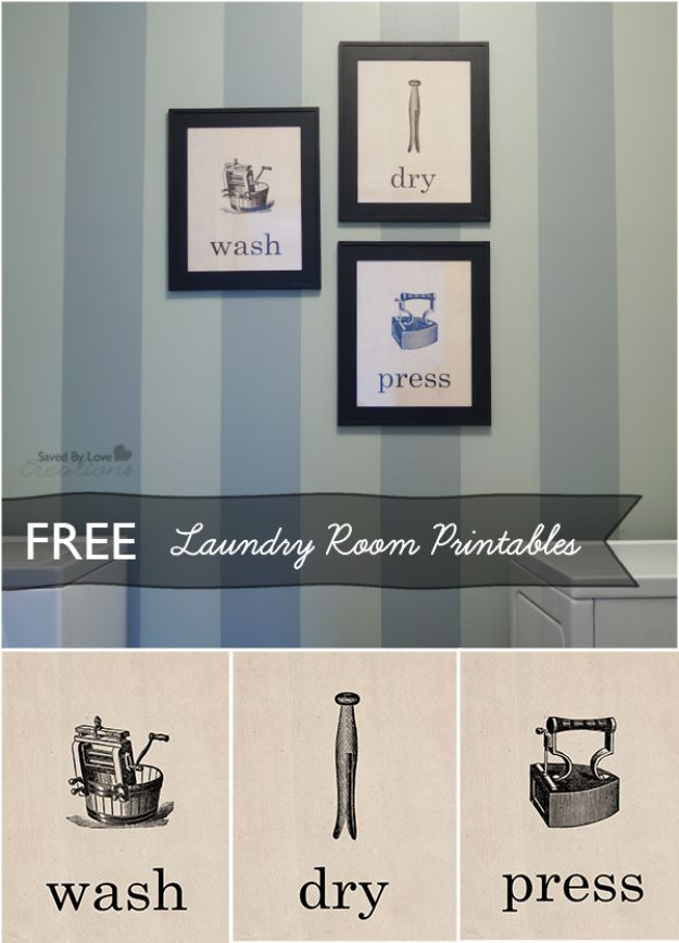 Free Printables For Your Walls - Free Vintage Laundry Room Printables - Easy Canvas Ideas With Free Downloadable Artwork and Quote Sayings - Best Free Prints for Wall Art and Picture to Print for Home and Bedroom Decor - Signs for the Home, Organization, Office - Quotes for Bedroom and Kitchens, Vintage Bathroom Pictures - Downloadable Printable for Kids - DIY and Crafts by DIY JOY #wallart #freeprintables #diyideas #diyart #walldecor #diyhomedecor #freeprintables