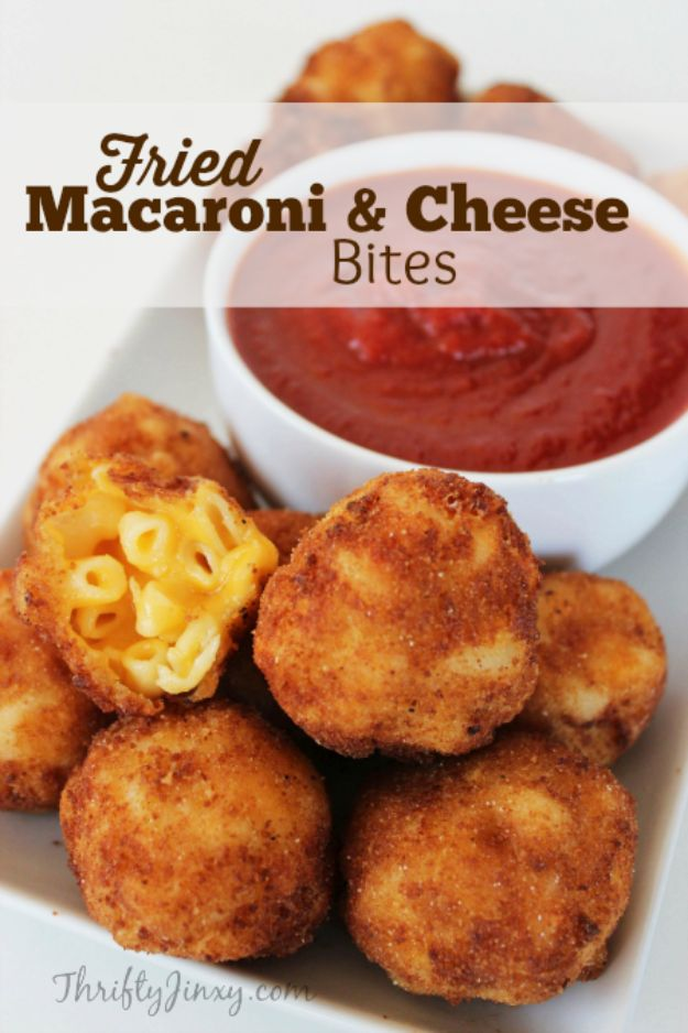 Best Recipes for the Cheese Lover - Fried Macaroni and Cheese Bites - Easy Recipe Ideas With Cheese - Homemade Appetizers, Dips, Dinners, Snacks, Pasta Dishes, Healthy Lunches and Soups Made With Your Favorite Cheeses - Ricotta, Cheddar, Swiss, Parmesan, Goat Chevre, Mozzarella and Feta Ideas - Grilled, Healthy, Vegan and Vegetarian #cheeserecipes #recipes #recipeideas #cheese #cheeserecipe http://diyjoy.com/best-recipes-cheese-lover