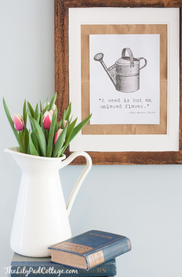 Free Printables For Your Walls - Gardening Printable- Easy Canvas Ideas With Free Downloadable Artwork and Quote Sayings - Best Free Prints for Wall Art and Picture to Print for Home and Bedroom Decor - Signs for the Home, Organization, Office - Quotes for Bedroom and Kitchens, Vintage Bathroom Pictures - Downloadable Printable for Kids - DIY and Crafts by DIY JOY #wallart #freeprintables #diyideas #diyart #walldecor #diyhomedecor #freeprintables