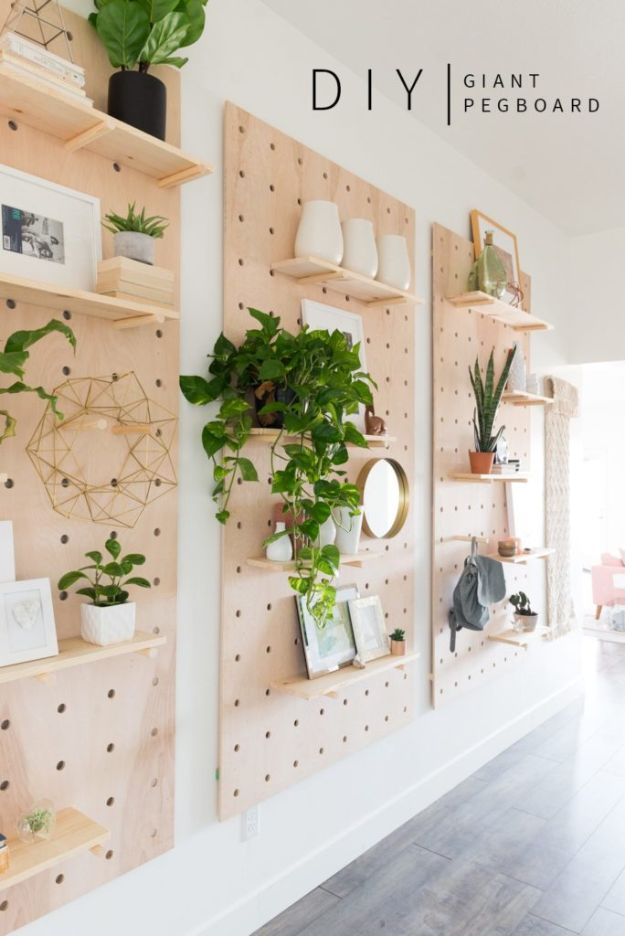 DIY Home Decor Projects for Beginners - Giant Pegboard DIY - Easy Homemade Decoration for Your House or Apartment - Creative Wall Art, Rugs, Furniture and Accessories for Kitchen - Quick and Cheap Ways to Decorate on A Budget - Farmhouse, Rustic, Modern, Boho and Minimalist Style With Step by Step Tutorials #diy