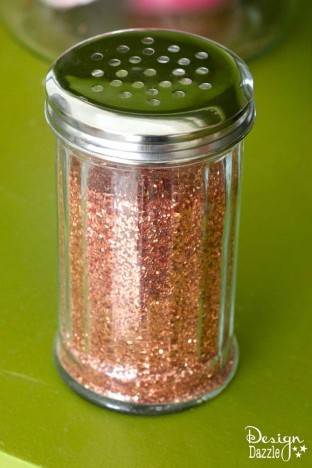 DIY Craft Room Ideas and Craft Room Organization Projects - Glitter Dispenser - Cool Ideas for Do It Yourself Craft Storage, Craft Room Decor and Organizing Project Ideas - fabric, paper, pens, creative tools, crafts supplies, shelves and sewing notions http://diyjoy.com/craft-room-organizing-ideas