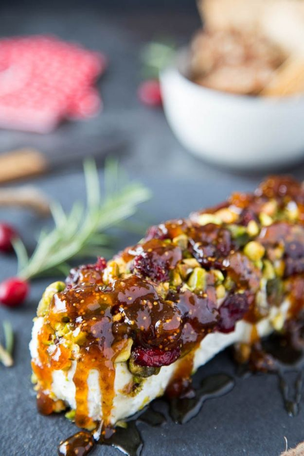 Best Recipes for the Cheese Lover - Goat Cheese With Honey, Fig & Pistachios - Easy Recipe Ideas With Cheese - Homemade Appetizers, Dips, Dinners, Snacks, Pasta Dishes, Healthy Lunches and Soups Made With Your Favorite Cheeses - Ricotta, Cheddar, Swiss, Parmesan, Goat Chevre, Mozzarella and Feta Ideas - Grilled, Healthy, Vegan and Vegetarian #cheeserecipes #recipes #recipeideas #cheese #cheeserecipe