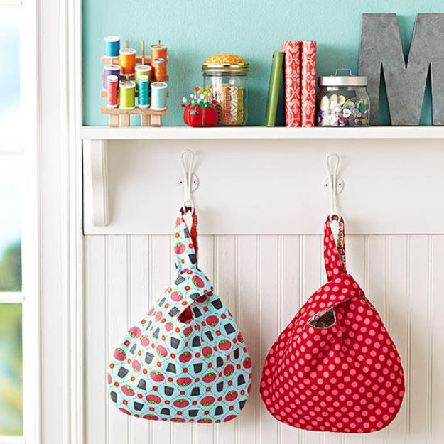 DIY Sewing Projects for the Home - Grab Bags - Easy DIY Christmas Gifts and Ideas for Making Kitchen, Bedroom and Bathroom Decor - Free Step by Step Tutorial to Sew