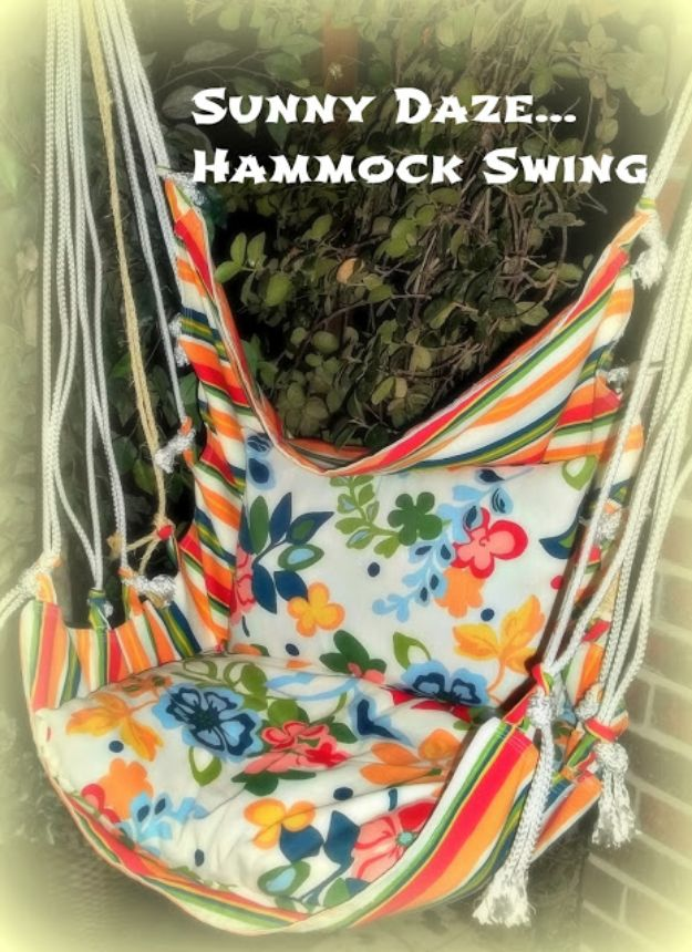 DIY Boho Decor Ideas - Hammock Swing - DIY Bedroom Ideas - Cheap Hippie Crafts and Bohemian Wall Art - Easy Upcycling Projects for Living Room, Bathroom, Kitchen #boho #diy #diydecor