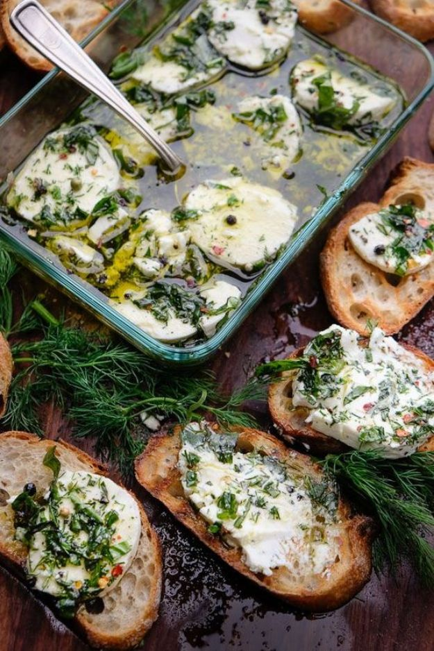 Best Recipes for the Cheese Lover - Herbed Goat Cheese - Easy Recipe Ideas With Cheese - Homemade Appetizers, Dips, Dinners, Snacks, Pasta Dishes, Healthy Lunches and Soups Made With Your Favorite Cheeses - Ricotta, Cheddar, Swiss, Parmesan, Goat Chevre, Mozzarella and Feta Ideas - Grilled, Healthy, Vegan and Vegetarian #cheeserecipes #recipes #recipeideas #cheese #cheeserecipe