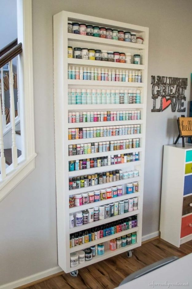 Craft Room Organization Ideas - Hidden Craft Room Storage - DIY Dollar Store Projects for Crafts - Budget Ways to Declutter While Organizing Supplies - Shelves, IKEA Hacks, Small Space Ideas
