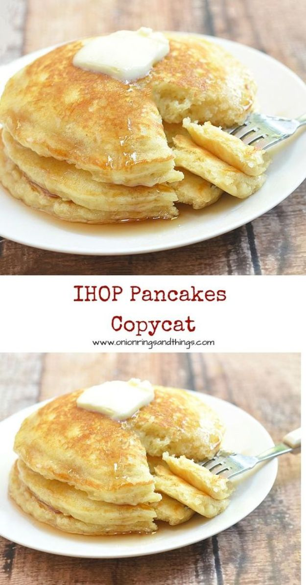 Best Pancake Recipes - IHOP Pancakes Copycat - Homemade Pancakes With Banana, Berries, Fruit and Maple Syrup - How To Make Pancake Mix at Home - Gluten Free, Low Fat and Healthy Recipes - Breakfast and Brunch Recipe Ideas - Silver Dollar, Buttermilk, Make Ahead and Quick Versions With Strawberries and Blueberries #pancakes #pancakerecipes #recipeideas #breakfast #breakfastrecipes http://diyjoy.com/pancake-recipes
