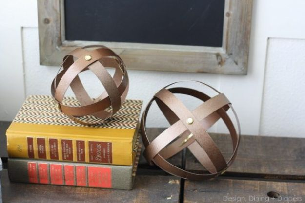 Cool DIY Ideas With Cereal Boxes - Industrial Decorative Spheres - Easy Organizing Ideas, Cute Kids Crafts and Creative Ways to Make Things Out of A Cereal Box - Cheap Gifts, DIY School Supplies and Storage Ideas http://diyjoy.com/diy-ideas-cereal-boxes