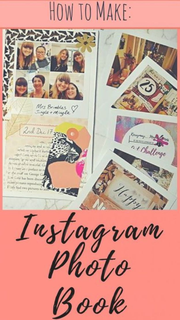 DIY Photo Albums - Instagram Photo Book - Easy DIY Christmas Gifts for Grandparents, Friends, Him or Her, Mom and Dad - Creative Ideas for Making Wall Art and Home Decor With Photos