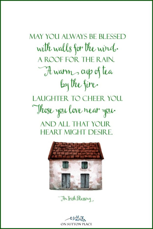 Free Printables For Your Walls - Irish Blessing Free Printable - Easy Canvas Ideas With Free Downloadable Artwork and Quote Sayings - Best Free Prints for Wall Art and Picture to Print for Home and Bedroom Decor - Signs for the Home, Organization, Office - Quotes for Bedroom and Kitchens, Vintage Bathroom Pictures - Downloadable Printable for Kids - DIY and Crafts by DIY JOY #wallart #freeprintables #diyideas #diyart #walldecor #diyhomedecor #freeprintables