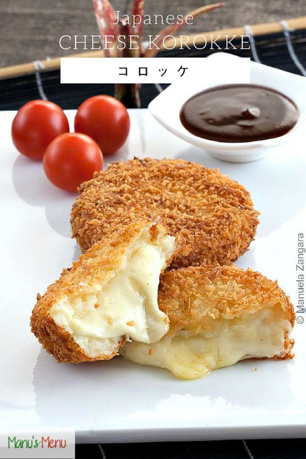 Best Recipes for the Cheese Lover - Japanese Korokke - Easy Recipe Ideas With Cheese - Homemade Appetizers, Dips, Dinners, Snacks, Pasta Dishes, Healthy Lunches and Soups Made With Your Favorite Cheeses - Ricotta, Cheddar, Swiss, Parmesan, Goat Chevre, Mozzarella and Feta Ideas - Grilled, Healthy, Vegan and Vegetarian #cheeserecipes #recipes #recipeideas #cheese #cheeserecipe