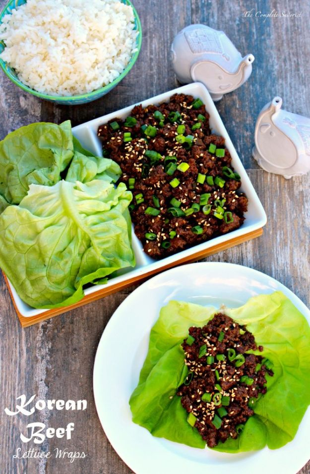 Best Recipes With Ground Beef - Korean Beef Lettuce Wraps - Easy Dinners and Ground Beef Recipe Ideas - Quick Lunch Salads, Casseroles, Tacos, One Skillet Meals - Healthy Crockpot Foods With Hamburger Meat - Mexican Casserole, Instant Pot Carne Molida, Low Carb and Keto Diet - Rice, Pasta, Potatoes and Crescent Rolls