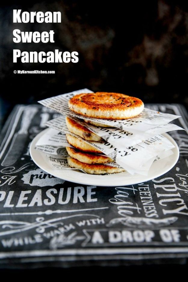 Best Pancake Recipes - Korean Sweet Pancakes - Homemade Pancakes With Banana, Berries, Fruit and Maple Syrup - How To Make Pancake Mix at Home - Gluten Free, Low Fat and Healthy Recipes - Breakfast and Brunch Recipe Ideas - Silver Dollar, Buttermilk, Make Ahead and Quick Versions With Strawberries and Blueberries #pancakes #pancakerecipes #recipeideas #breakfast #breakfastrecipes http://diyjoy.com/pancake-recipes