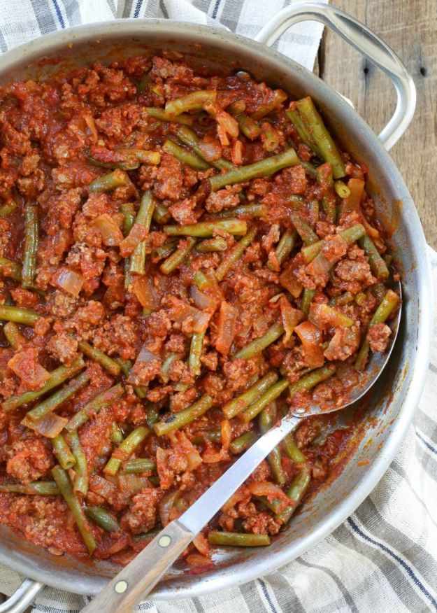 Best Recipes With Ground Beef - Lebanese Beef and Green Beans - Easy Dinners and Ground Beef Recipe Ideas - Quick Lunch Salads, Casseroles, Tacos, One Skillet Meals - Healthy Crockpot Foods With Hamburger Meat - Mexican Casserole, Instant Pot Carne Molida, Low Carb and Keto Diet - Rice, Pasta, Potatoes and Crescent Rolls