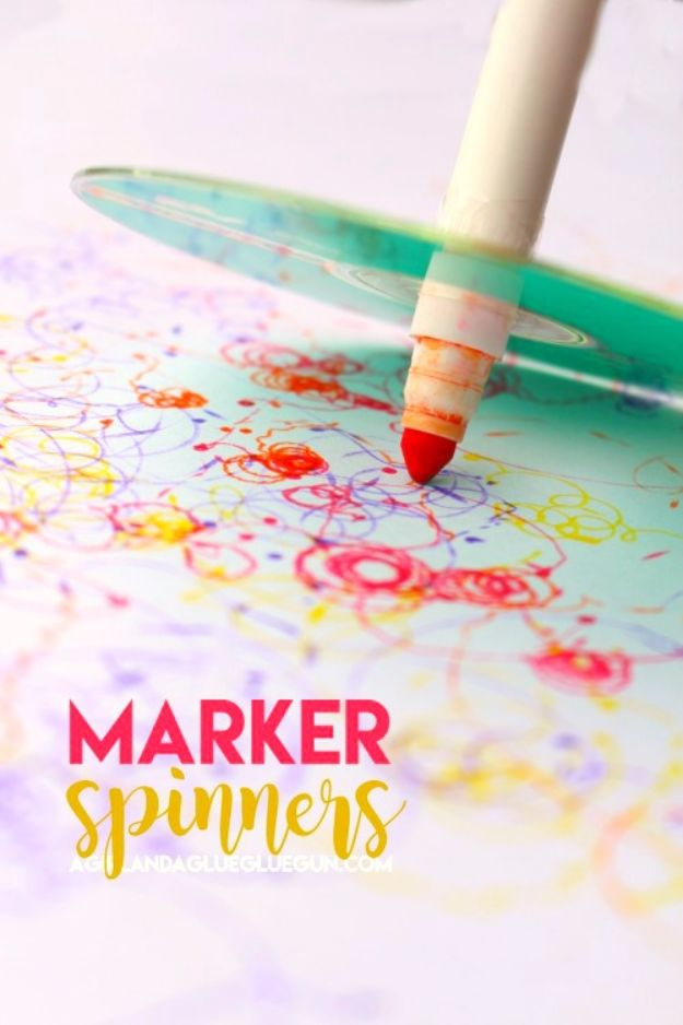 DIY Ideas With Old CD - Marker Spinners - Recycle Jewelry, Room Decoration Mosaic, Coasters, Garden Art and DIY Home Decor Using Broken DVD - Photo Album, Wall Art and Mirror - Cute and Easy DIY Gifts for Birthday and Christmas Holidays