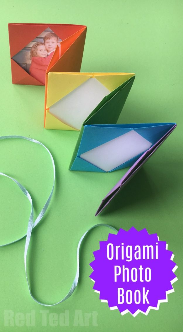 DIY Photo Albums -Mini Origami Photo Album - Easy DIY Christmas Gifts for Grandparents, Friends, Him or Her, Mom and Dad - Creative Ideas for Making Wall Art and Home Decor With Photos