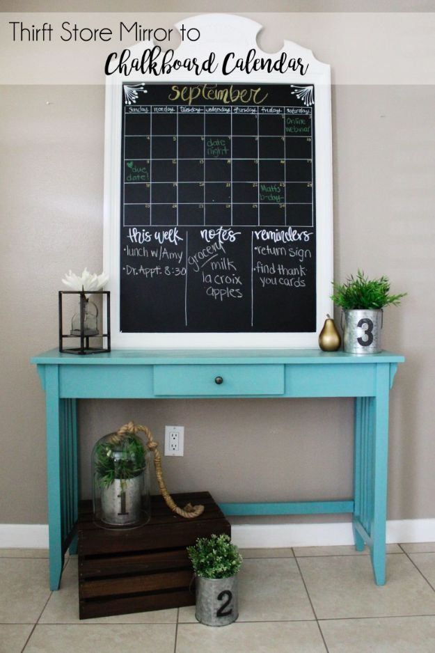 DIY Calendars - Mirror Calendar - Homemade Calender Ideas That Make Great Cheap Gifts for Christmas - Desk, Wall and Glass Dry Erase Organizing Calendar Projects With Step by Step Tutorials - Paint, Stamp, Magnetic, Family Planner and Organizer #diycalendar #diyideas #crafts #calendars #organizing #diygifts http://diyjoy.com/diy-calendars
