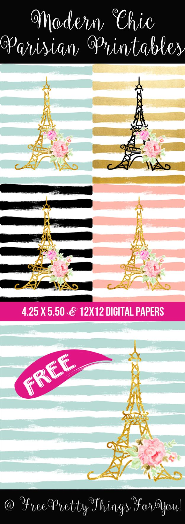 Free Printables For Your Walls - Modern Chic Parisian Printables - Easy Canvas Ideas With Free Downloadable Artwork and Quote Sayings - Best Free Prints for Wall Art and Picture to Print for Home and Bedroom Decor - Signs for the Home, Organization, Office - Quotes for Bedroom and Kitchens, Vintage Bathroom Pictures - Downloadable Printable for Kids - DIY and Crafts by DIY JOY #wallart #freeprintables #diyideas #diyart #walldecor #diyhomedecor #freeprintables