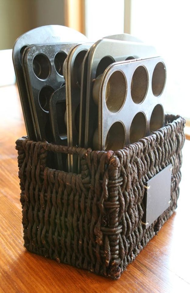 Dollar Store Organizing Ideas - Muffin Tray Organization - Easy Organization Projects from Dollar Tree and Dollar Stores - Quick Closet Makeovers, Pantry Storage, Shoe Box Projects, Tension Rods, Car and Household Cleaning - Hacks and Tips for Organizing on a Budget - Cheap Idea for Reducing Clutter around the House, in the Kitchen and Bedroom http://diyjoy.com/dollar-store-organizing-ideas