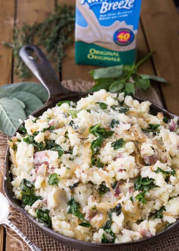 Best Kale Recipes - Olive Oil Mashed Potatoes with Kale & Herbs - How to Cook Kale at Home - Healthy Green Vegetable Cooking for Salads, Soup, Lunches, Stir Fry and Dinner - Kale Chips. Salad, Shredded, Cooked, Fresh and Sauteed Kale - Vegan, Vegetarian, Keto, Low Carb and Lowfat Recipe Ideas #kale #kalerecipes #vegetablerecipes #veggies #recipeideas #dinnerideas http://diyjoy.com/best-kale-recipes
