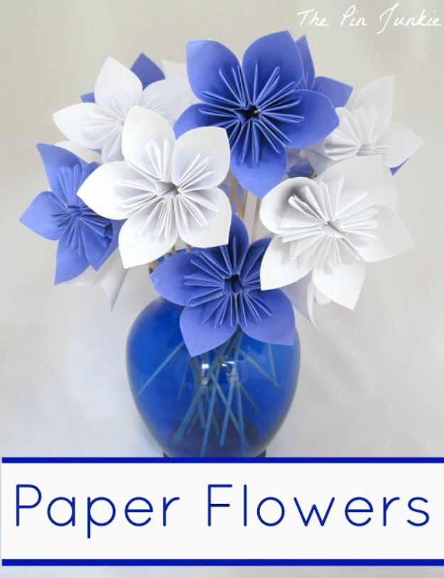 DIY Ideas With Faux Flowers - Paper Flowers - Paper, Fabric, Silk and Plastic Flower Crafts - Easy Arrangements, Wedding Decorations, Wall, Decorations, Letters, Cheap Home Decor