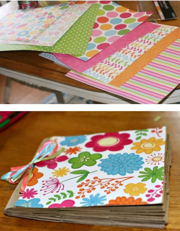 DIY Photo Albums - Paper Lunch Bag Photo Album - Easy DIY Christmas Gifts for Grandparents, Friends, Him or Her, Mom and Dad - Creative Ideas for Making Wall Art and Home Decor With Photos