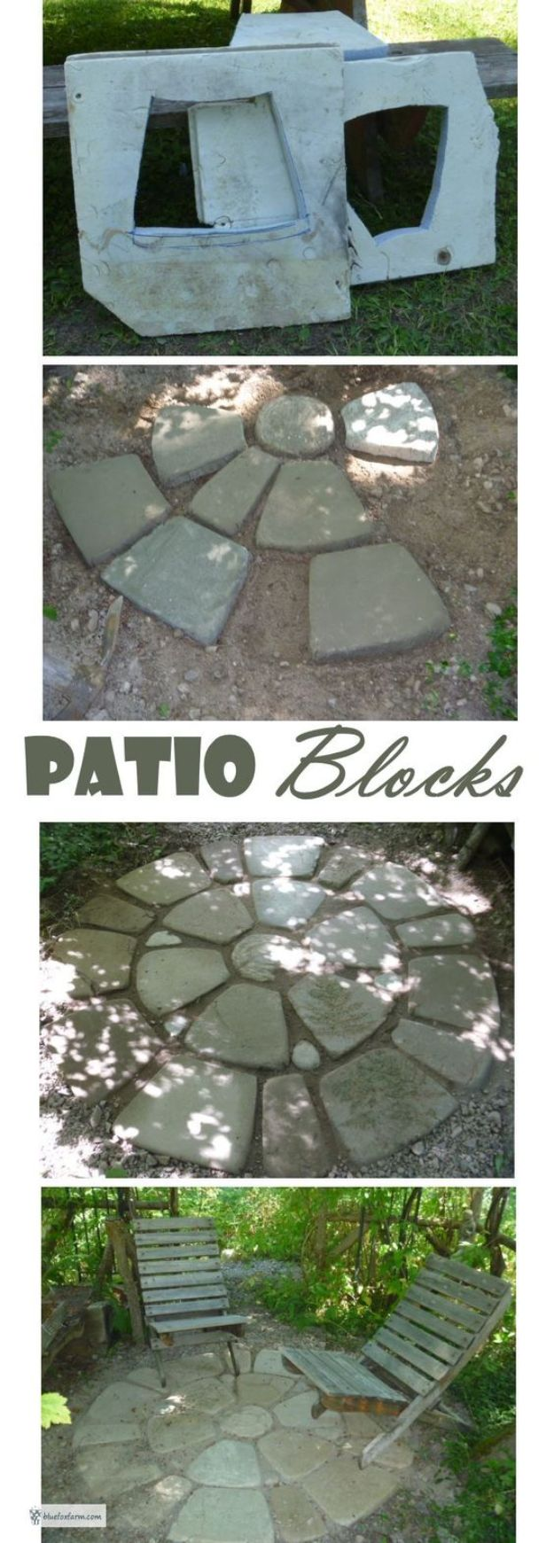 DIY Walkways - Patio Blocks - Do It Yourself Walkway Ideas for Paths to The Front Door and Backyard - Cheap and Easy Pavers and Concrete Path and Stepping Stones - Wood and Edging, Lights, Backyard and Patio Walks With Gravel, Sand, Dirt and Brick http://diyjoy.com/diy-walkways