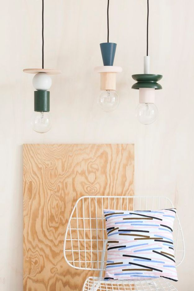 DIY Home Decor Projects for Beginners - Pendant Lights - Easy Homemade Decoration for Your House or Apartment - Creative Wall Art, Rugs, Furniture and Accessories for Kitchen - Quick and Cheap Ways to Decorate on A Budget - Farmhouse, Rustic, Modern, Boho and Minimalist Style With Step by Step Tutorials #diy