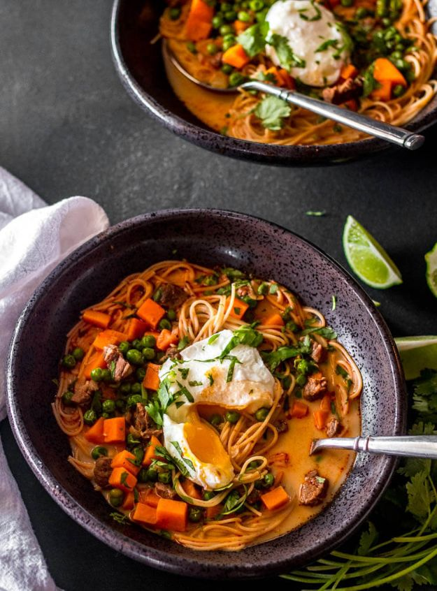 Best Recipes With Ground Beef - Peruvian Beef Noodle Soup - Easy Dinners and Ground Beef Recipe Ideas - Quick Lunch Salads, Casseroles, Tacos, One Skillet Meals - Healthy Crockpot Foods With Hamburger Meat - Mexican Casserole, Instant Pot Carne Molida, Low Carb and Keto Diet - Rice, Pasta, Potatoes and Crescent Rolls