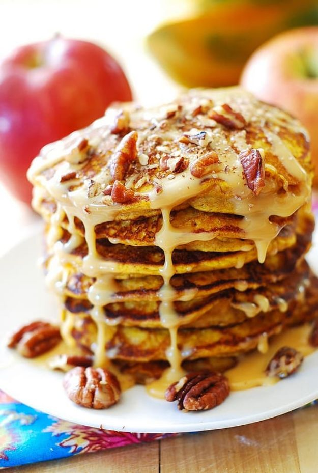 Best Pancake Recipes - Pumpkin Pancakes With Caramel Pecan Sauce - Homemade Pancakes With Banana, Berries, Fruit and Maple Syrup - How To Make Pancake Mix at Home - Gluten Free, Low Fat and Healthy Recipes - Breakfast and Brunch Recipe Ideas - Silver Dollar, Buttermilk, Make Ahead and Quick Versions With Strawberries and Blueberries #pancakes #pancakerecipes #recipeideas #breakfast #breakfastrecipes http://diyjoy.com/pancake-recipes