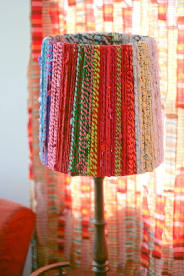 DIY Boho Decor Ideas - Rope Lampshade - DIY Bedroom Ideas - Cheap Hippie Crafts and Bohemian Wall Art - Easy Upcycling Projects for Living Room, Bathroom, Kitchen #boho #diy #diydecor