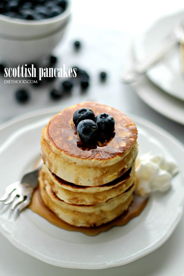 Best Pancake Recipes - Scottish Pancakes - Homemade Pancakes With Banana, Berries, Fruit and Maple Syrup - How To Make Pancake Mix at Home - Gluten Free, Low Fat and Healthy Recipes - Breakfast and Brunch Recipe Ideas - Silver Dollar, Buttermilk, Make Ahead and Quick Versions With Strawberries and Blueberries #pancakes #pancakerecipes #recipeideas #breakfast #breakfastrecipes http://diyjoy.com/pancake-recipes