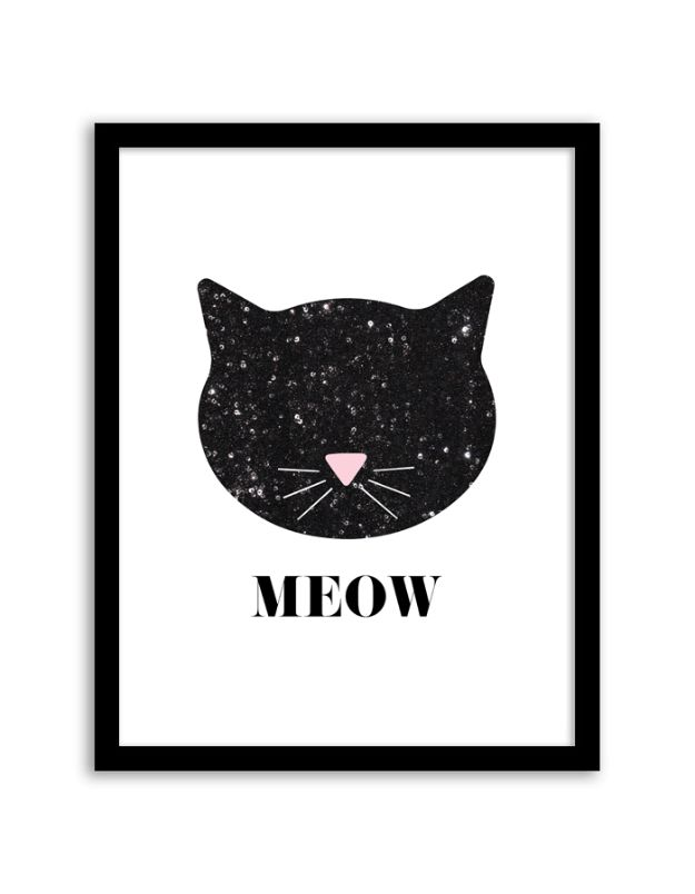 Free Printables For Your Walls - Sequin Cat Wall Art - Easy Canvas Ideas With Free Downloadable Artwork and Quote Sayings - Best Free Prints for Wall Art and Picture to Print for Home and Bedroom Decor - Signs for the Home, Organization, Office - Quotes for Bedroom and Kitchens, Vintage Bathroom Pictures - Downloadable Printable for Kids - DIY and Crafts by DIY JOY #wallart #freeprintables #diyideas #diyart #walldecor #diyhomedecor http://diyjoy.com/best-free-printables-wall-art