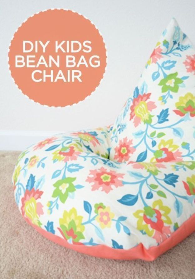 DIY Sewing Projects for the Home - Sew a Kids Bean Bag Chair in 30 Minutes - Easy DIY Christmas Gifts and Ideas for Making Kitchen, Bedroom and Bathroom Decor - Free Step by Step Tutorial to Sew