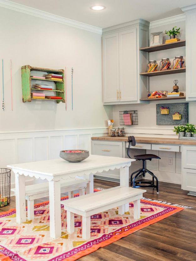 Craft Room Organization Ideas - Space For Kids - DIY Dollar Store Projects for Crafts - Budget Ways to Declutter While Organizing Supplies - Shelves, IKEA Hacks, Small Space Ideas
