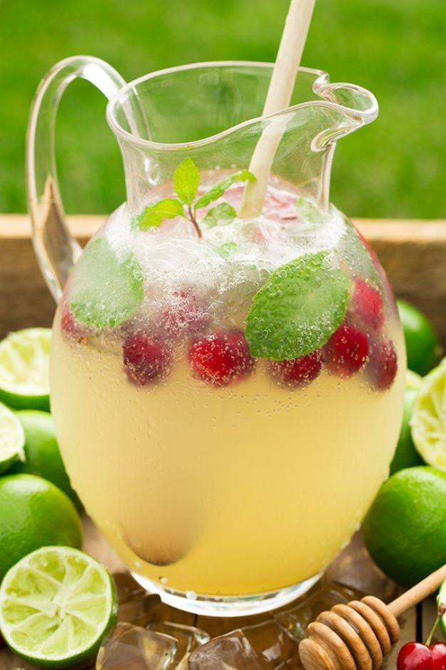 DIY Juice Recipes for Health, Detox and Energy - Sparkling Honey Limeade - Juicing for Beginners With Fruit and Vegetables - Recipe Ideas and Mixes for Juices That Promote Weightloss, Help With Inflammation, For Cancer, For Skin, Cleanse and for Fat Burning - Try These for Kids, for Breakfast, Lunch and Post Workout