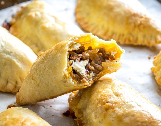 Best Recipes With Ground Beef - Spicy Beef and Cheese Empanadas - Easy Dinners and Ground Beef Recipe Ideas - Quick Lunch Salads, Casseroles, Tacos, One Skillet Meals - Healthy Crockpot Foods With Hamburger Meat - Mexican Casserole, Instant Pot Carne Molida, Low Carb and Keto Diet - Rice, Pasta, Potatoes and Crescent Rolls #groundbeef #beefrecipes #beedrecipe #dinnerideas #dinnerrecipes http://diyjoy.com/best-recipes-ground-beef