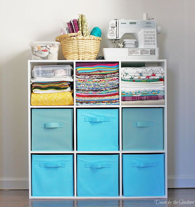 Store Craft Supplies In A Small SpaceCraft Room Organization Ideas - Store Craft Supplies In A Small Space - DIY Dollar Store Projects for Crafts - Budget Ways to Declutter While Organizing Supplies - Shelves, IKEA Hacks, Small Space Ideas