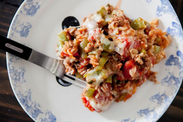Best Recipes With Ground Beef - Stuffed Pepper Casserole - Easy Dinners and Ground Beef Recipe Ideas - Quick Lunch Salads, Casseroles, Tacos, One Skillet Meals - Healthy Crockpot Foods With Hamburger Meat - Mexican Casserole, Instant Pot Carne Molida, Low Carb and Keto Diet - Rice, Pasta, Potatoes and Crescent Rolls #groundbeef #beefrecipes #beedrecipe #dinnerideas #dinnerrecipes http://diyjoy.com/best-recipes-ground-beef