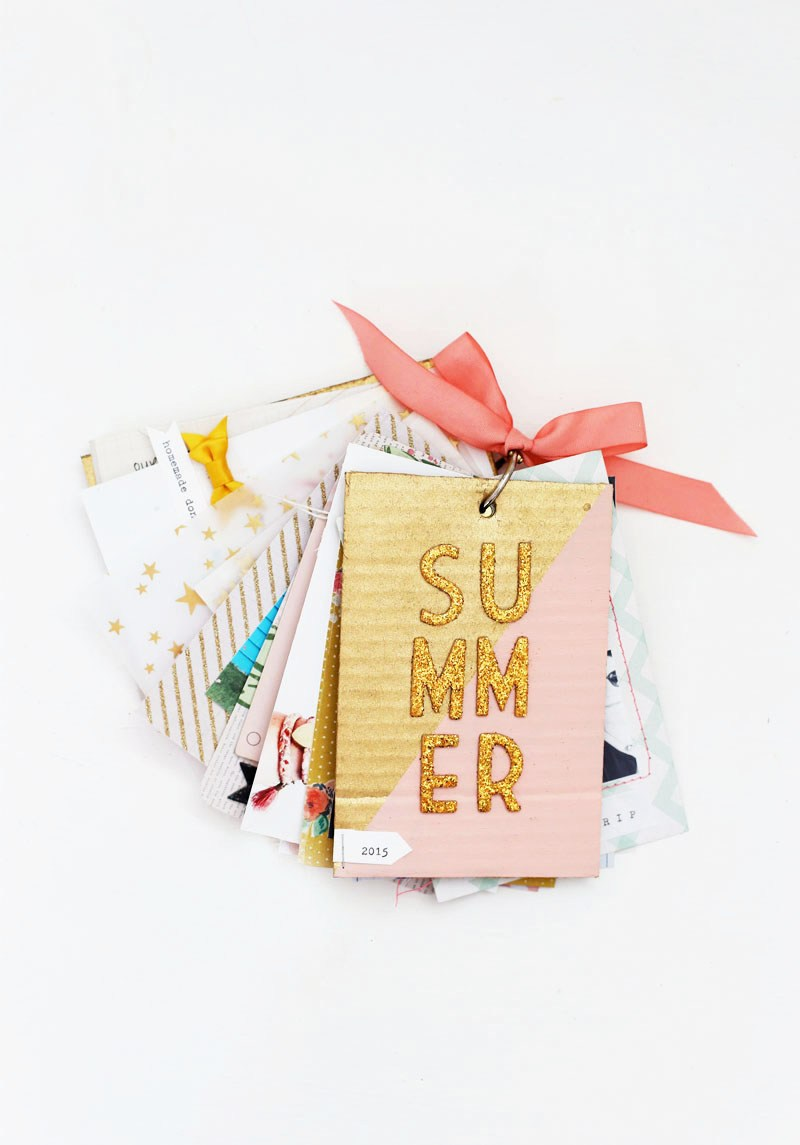 DIY Photo Albums - Summer Mini Album - Easy DIY Christmas Gifts for Grandparents, Friends, Him or Her, Mom and Dad - Creative Ideas for Making Wall Art and Home Decor With Photos
