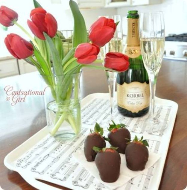 DIY Gifts for Him - Sweetheart Tray Idea for Anniversary Celebration With Husband - Thoughtful Romantic Gift Ideas for Guys - DYI Christmas Gift for Boyfriend, Husband, Partner - Inexpensive and Cheap DIY Presents To Make For His Birthday