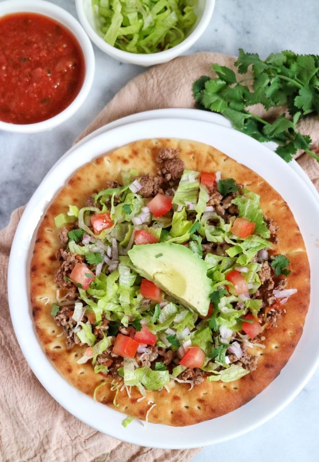 Best Recipes With Ground Beef - Taco Pita Pizza - Easy Dinners and Ground Beef Recipe Ideas - Quick Lunch Salads, Casseroles, Tacos, One Skillet Meals - Healthy Crockpot Foods With Hamburger Meat - Mexican Casserole, Instant Pot Carne Molida, Low Carb and Keto Diet - Rice, Pasta, Potatoes and Crescent Rolls #groundbeef #beefrecipes #beedrecipe #dinnerideas #dinnerrecipes http://diyjoy.com/best-recipes-ground-beef