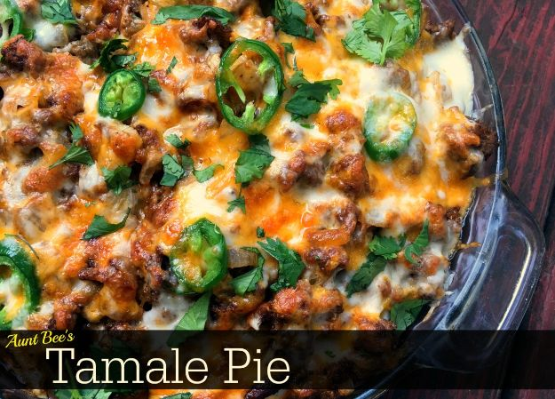 Best Recipes With Ground Beef - Tamale Pie - Easy Dinners and Ground Beef Recipe Ideas - Quick Lunch Salads, Casseroles, Tacos, One Skillet Meals - Healthy Crockpot Foods With Hamburger Meat - Mexican Casserole, Instant Pot Carne Molida, Low Carb and Keto Diet - Rice, Pasta, Potatoes and Crescent Rolls #groundbeef #beefrecipes #beedrecipe #dinnerideas #dinnerrecipes http://diyjoy.com/best-recipes-ground-beef