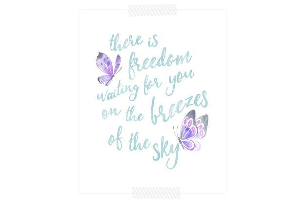 Free Printables For Your Walls - There is Freedom Waiting For You Free Printable - Easy Canvas Ideas With Free Downloadable Artwork and Quote Sayings - Best Free Prints for Wall Art and Picture to Print for Home and Bedroom Decor - Signs for the Home, Organization, Office - Quotes for Bedroom and Kitchens, Vintage Bathroom Pictures - Downloadable Printable for Kids - DIY and Crafts by DIY JOY #wallart #freeprintables #diyideas #diyart #walldecor #diyhomedecor #freeprintables